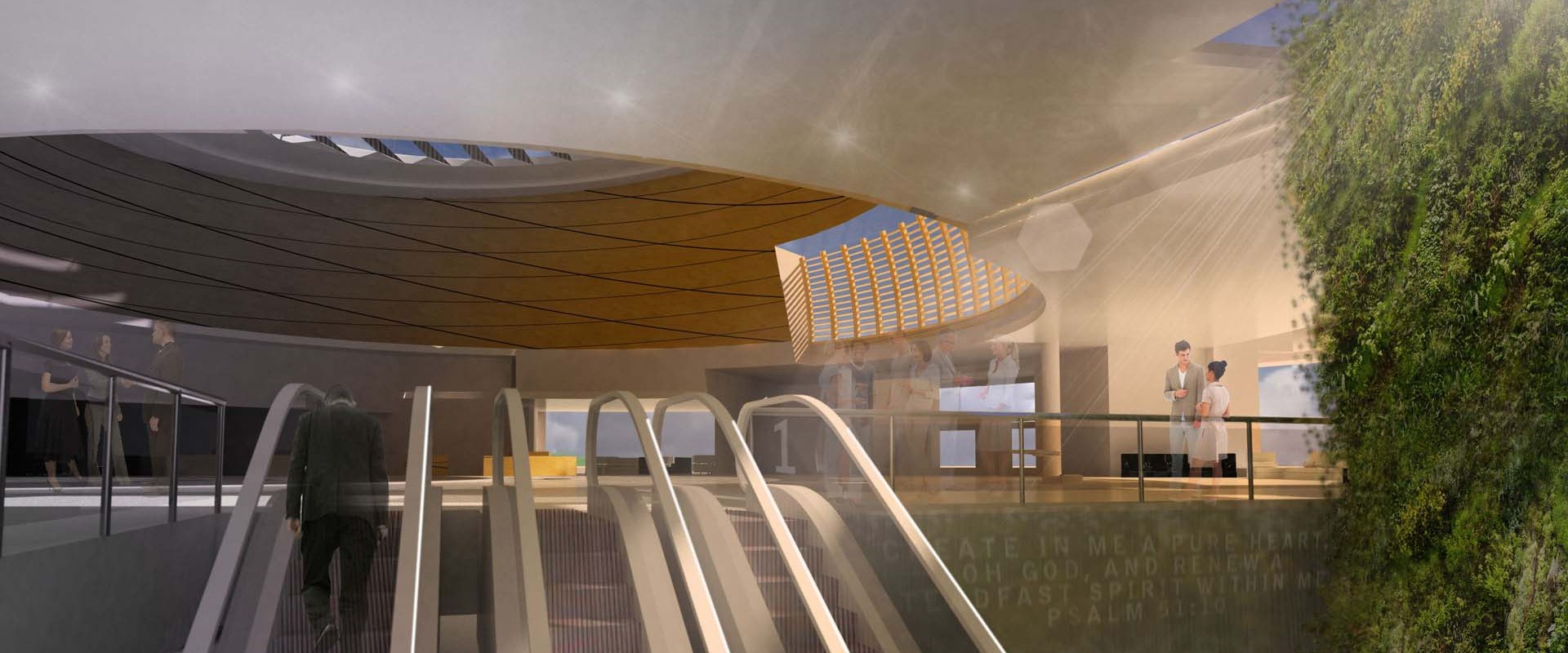 Church Lobby Architectural Rendering