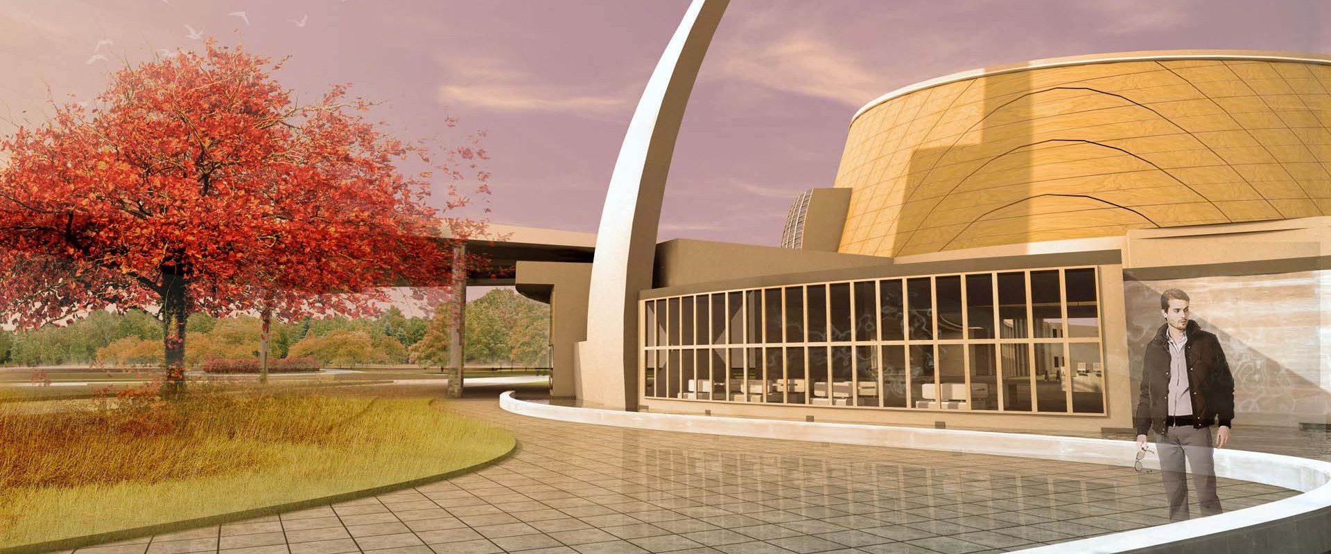 Church Patio Architectural Rendering