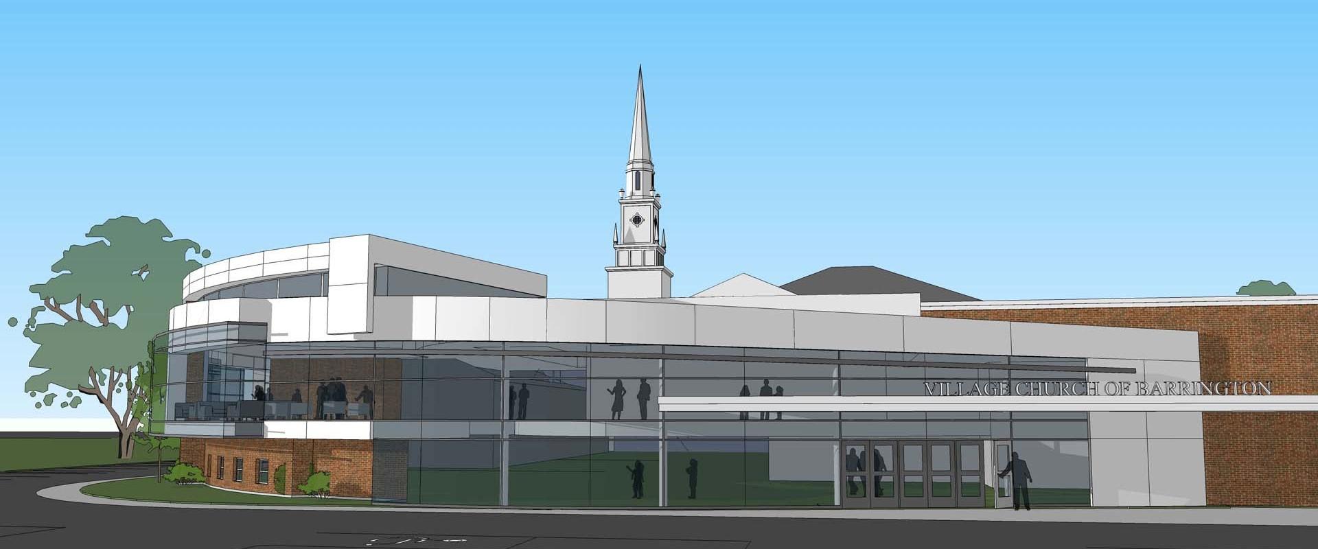 Contemporary Church Design Addition
